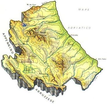 Cartina Lombardia Laghi.Abruzzo Mappa Rilievi Valichi Coste Isole Paesaggio Fiumi Laghi Abruzzesi