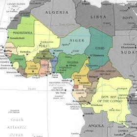 Africa Occidentale Cartina Geografica.Africa Mappa Centro Occidentale Orientale Settentrionale Meridionale Africa