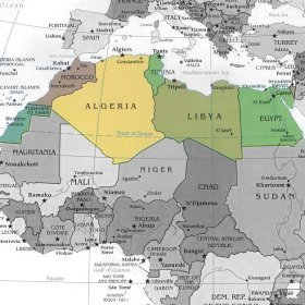 Africa Occidentale Cartina.Africa Mappa Centro Occidentale Orientale Settentrionale
