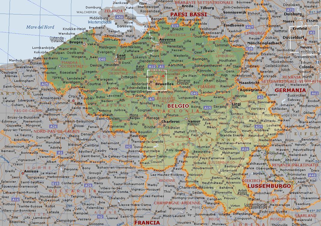 Cartina Belgio Politica.Belgio Mappa Del Confine