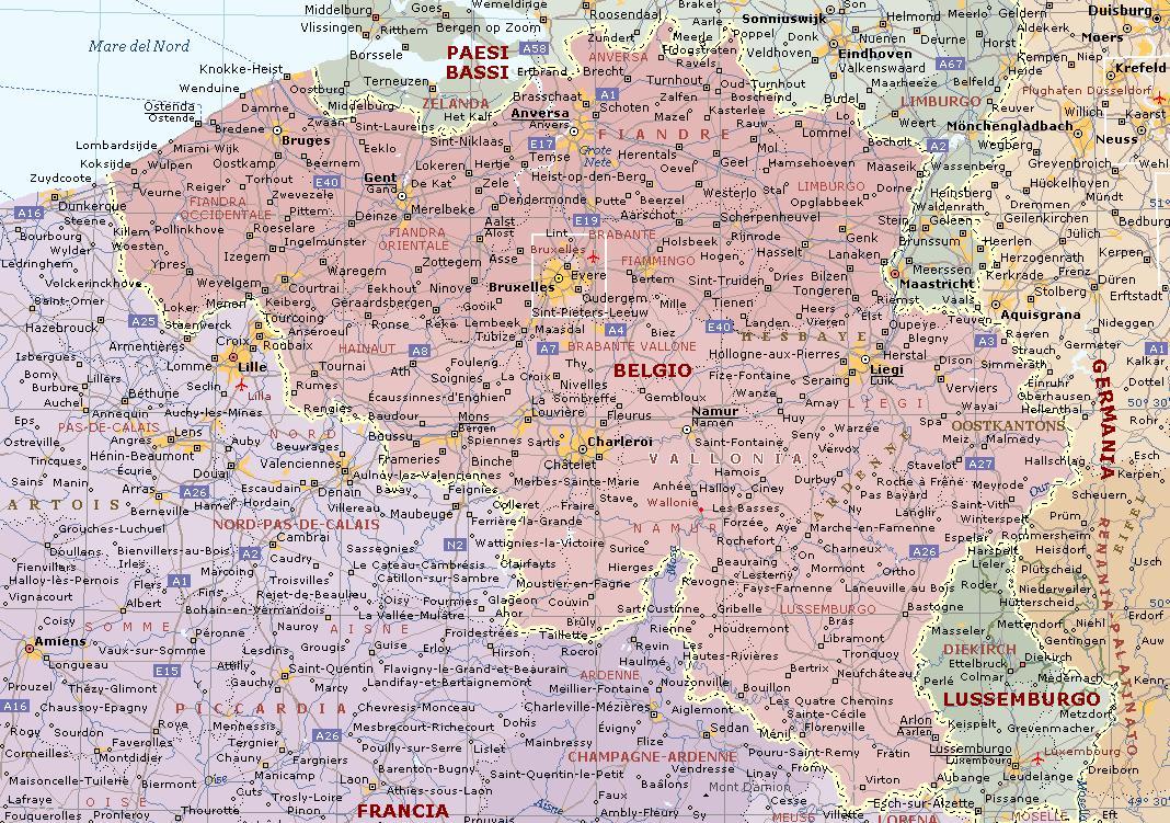 Cartina Del Belgio Da Stampare.Belgio Carta Geografica Mappa Del Belgio