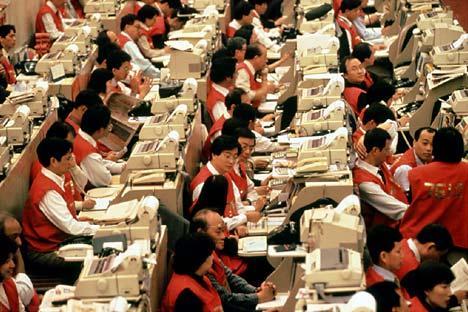 bourse des valeurs à Hong-Kong