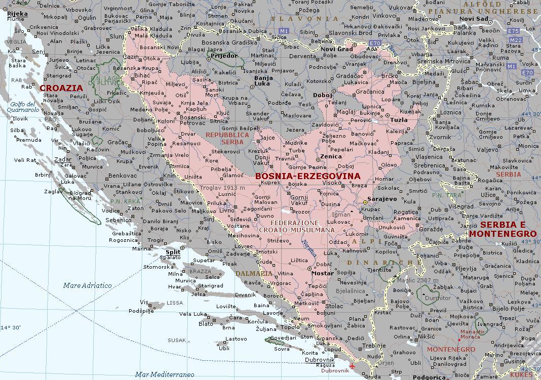 Medjugorje Bosnia  City pictures : Medjugorje/Medjugorje/Karte Medugorje
