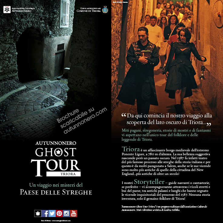 Brochure Autunnonero Ghost Tour Triora