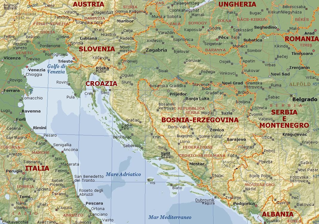 La Cartina Geografica Della Croazia Pieterduisenberg