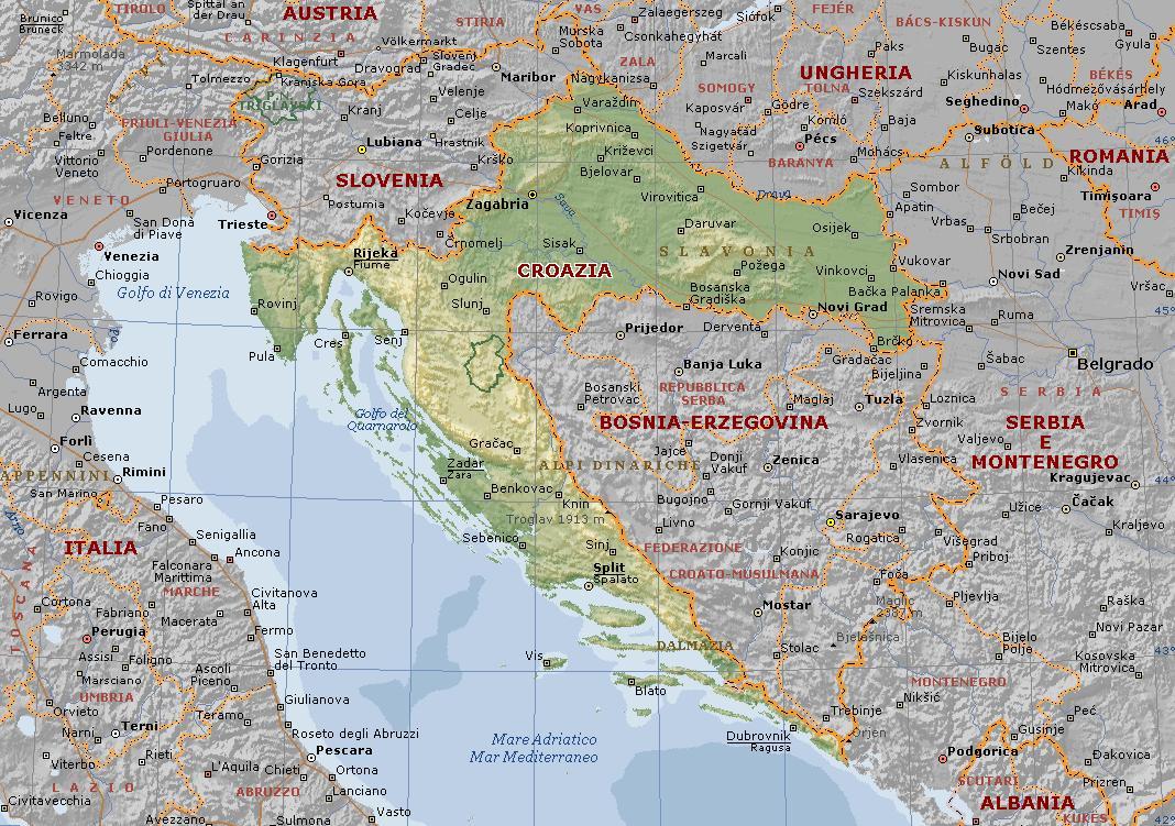 Croazia Mappa Turistica Mappa Della Croazia