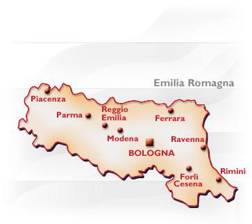 Cartina Geografica Regione Emilia Romagna.Emilia Romagna Conformazione Popolazione Origini Del Nome