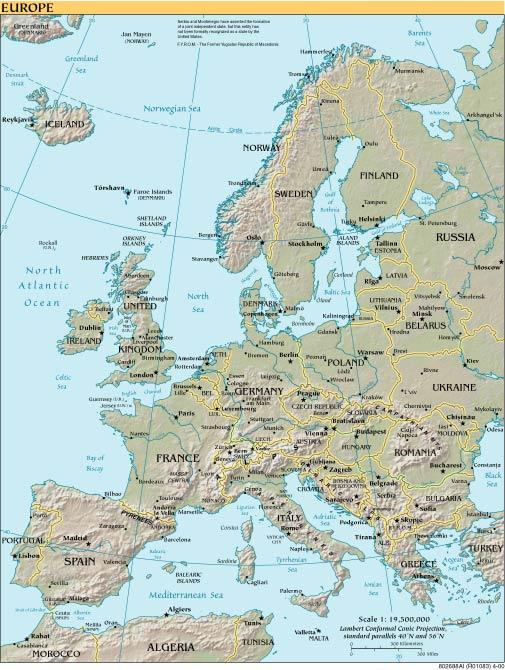 Europa Meridionale Cartina.Europa Mappa Geografia Caratteristiche Fisiche Flora E Fauna Europa