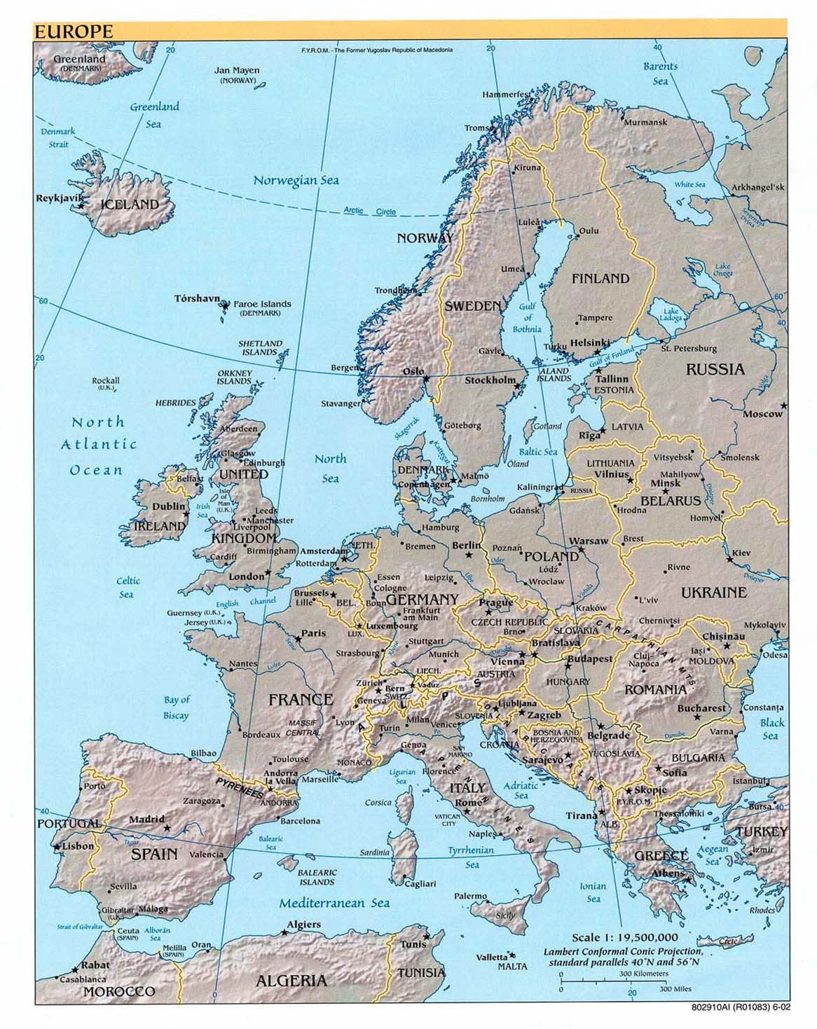 Europa carta geografica mappa gratis e ricette dell 39 europa for Cartina europa da colorare
