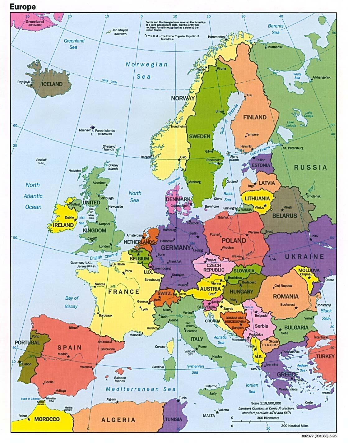 Europa Carta Geografica Mappa Gratis E Ricette Delleuropa