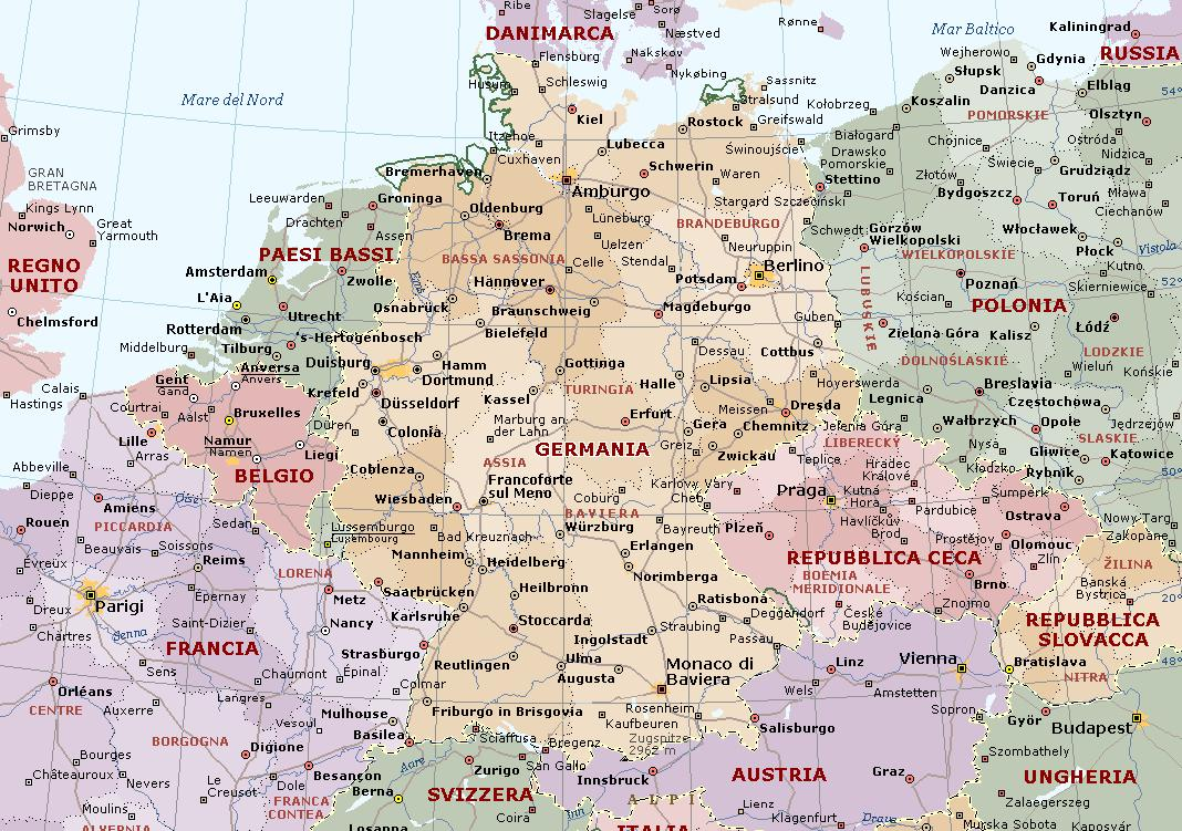 Germania Carta Geografica