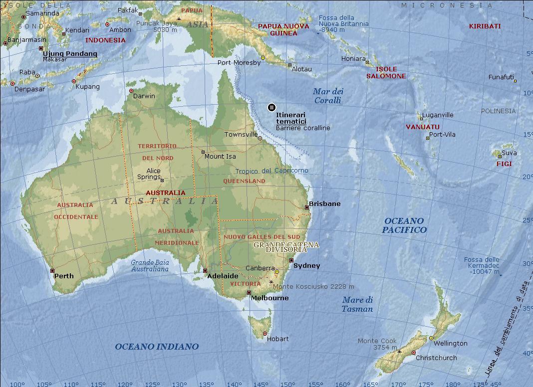 Cartina Geografica Australia E Nuova Zelanda.Geo 3 Oceania Lessons Tes Teach
