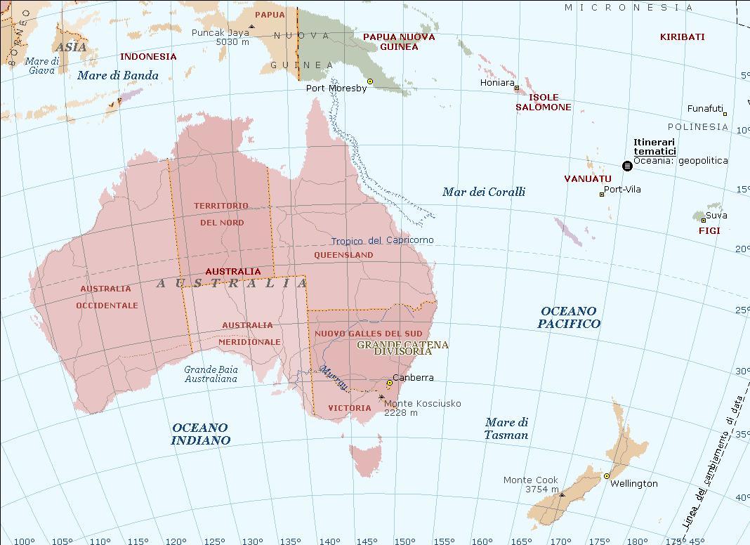 Oceania Carta Geografica Mappa Gratis E Ricette Delloceania