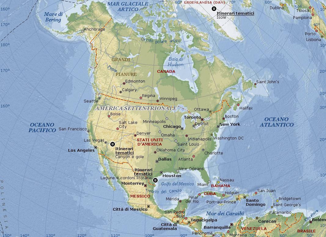 America Settentrionale Cartina Geografica Politica.Nord America Carta Geografica Mappa Gratis E Ricette Del Nord America