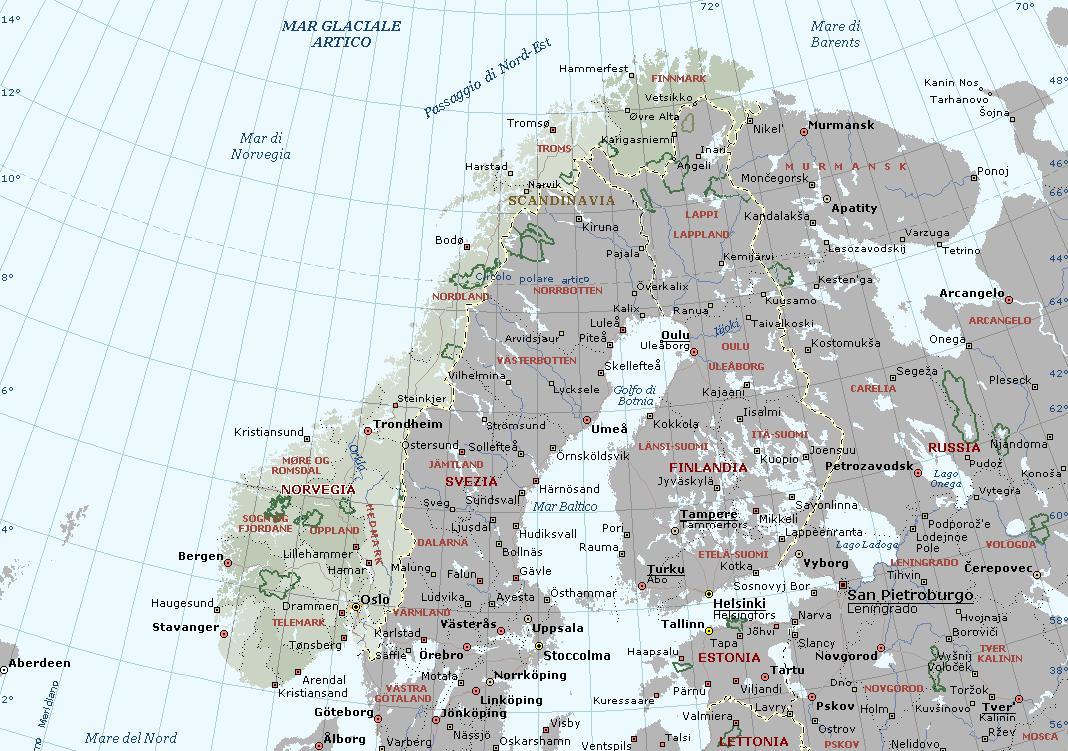 Cartina Della Norvegia.Norvegia Carta Geografica Mappa Norvegese