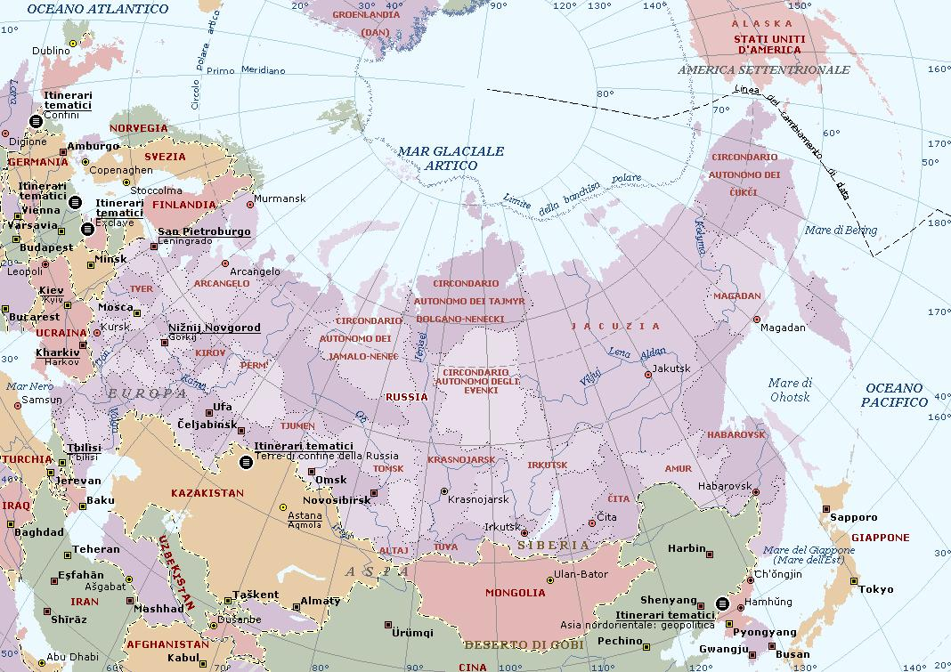 Cartina Fisica Russia Asiatica.Russia Carta Geografica Mappa Russa