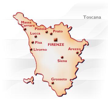 Cartina Geografica Della Toscana.Toscana Conformazione Popolazione Origini Del Nome Posizione Confine Toscane